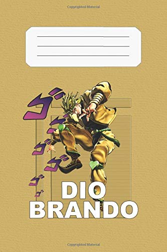 Dio Brando: JoJo's Bizarre Adventure, Dio, 112 Lined Pages, 6 x 9 in, Anime Notebook Diamond