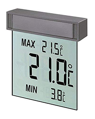 TFA Dostmann Vision digitales Fensterthermometer, 30.1025, großes Display mit Außentemperatur