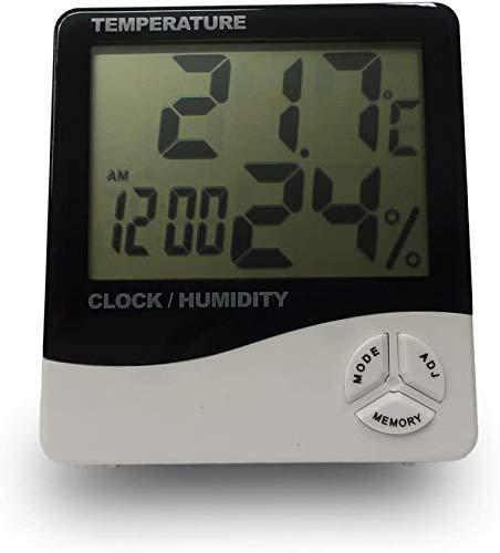 grow-fritz Thermo-/Hygrometer mit magnetischer Zeltbefestigung und Uhrzeit mit Alarmfunktion