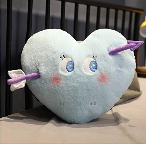 Detazhi Lindo Cupido Flecha en Forma de corazón Almohadilla de la Felpa de Kawaii Expresión Cojín Regalos de la diversión de Peluche de Juguete niñas 50Cm
