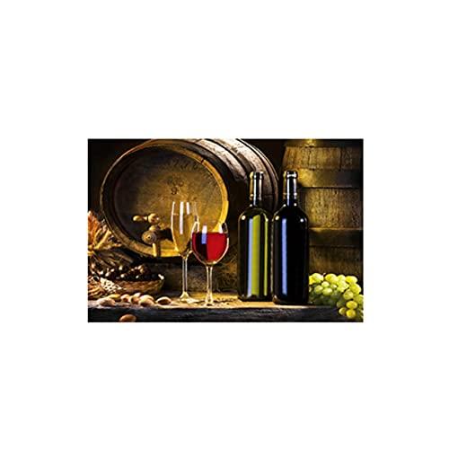 Pinturas en lienzo de frutas del vino, carteles e impresiones clásicas, cuadros artísticos de pared nórdicos para la sala de estar, cocina, decoración del hogar, 60x90cm / 23.6 'x35.4' Sin marco