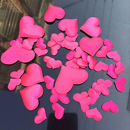 Estilo destacado Fiesta festiva Decoración de la boda 100 unids decoración de boda artificial corazón en forma de esponja de esponja DIY para cumpleaños Mesa de boda Decoración de la decoración Sumini