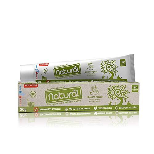 Creme Dental Natural Contente com Extrato de Uva, Melissa e Camomila 80g, Suavetex
