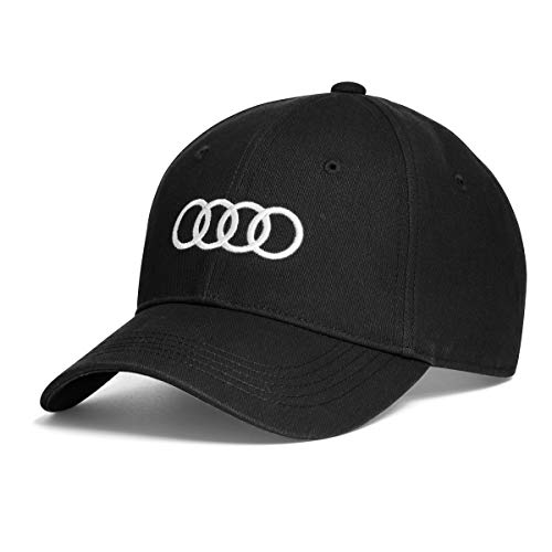 Audi collection 3131701000 Audi Ringe Cap, Schwarz