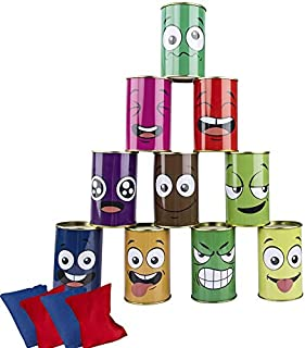 Carnival Games Bean Bag Toss Game for Kids & Adults Carnival Birthday Party Indoor Outdoor Game, Easter Games Tin Can Alle...