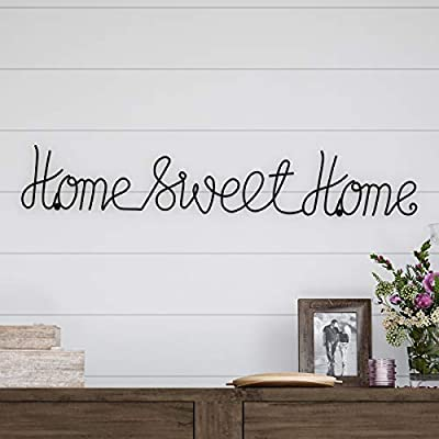 Lavish Home Metal Sweet Cursive Cutout Sign-3D Word Art Home Accent Decor-Perfect for Modern Rustic or Vintage Farmhouse Style