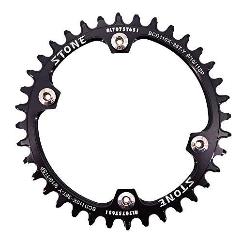 Stone FC 5800 6800 4700 9000 34-60歯ロードバイクチェーンホイール用ストーンチェーンリングラウンド110 BCD (40歯)