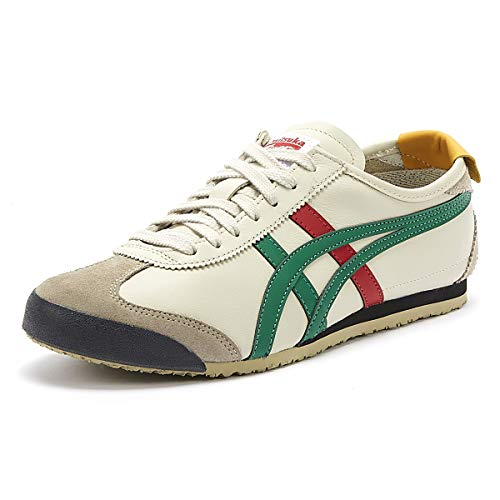Onitsuka Tiger Mexico 66, Zapatillas de Entrenamiento Unisex Adulto, Multicolor (Birch/Green 1684), 41.5 EU
