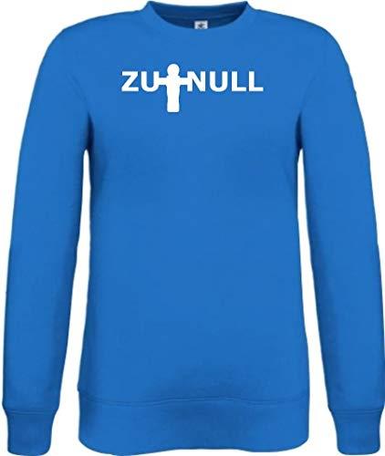 Shirtinstyle Sweatshirt Kicker Zu Null Tischkicker, Farbe royal, Größe XXL