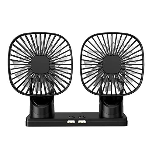 Ventilador de Coche, Ventilador de Coche eléctrico de Doble Cabezal, Mini ventiladores...