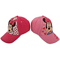 Disney Toddler/Little Girl's Minnie Mouse Hat - Pink Baseball Cap, Size Age 2-4, Minnie Pinks