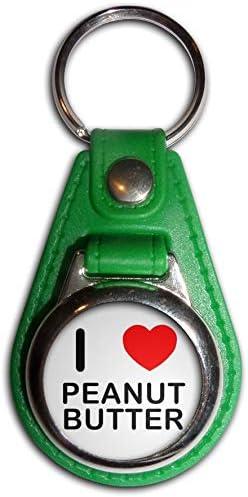 I Love Peanut Butter Plastic Key Ring Bottle Opener New