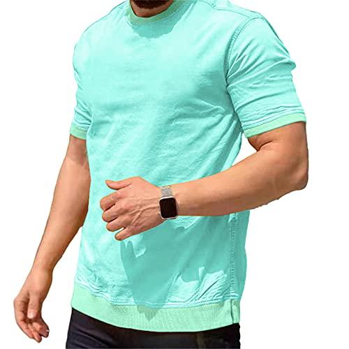 Shirt Herren Sommer Einfachheit Mode Einfarbig Regular Fit Herren T-Shirt Modern Urban Klassisch Rundhals Herren Kurzarm Täglich Casual All-Match Freizeithemden