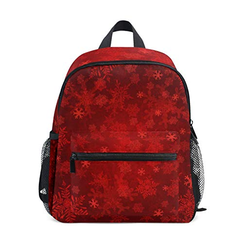 Backpack for Boys and Girls Mini Backpack Travel Bag with Chest Clip Christmas Snowflakes Funny Pattern