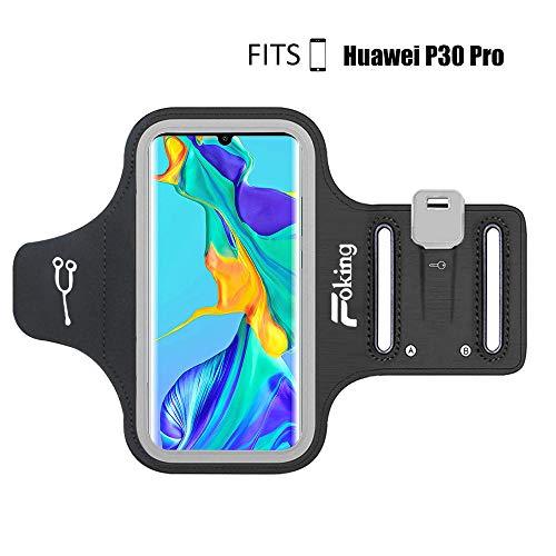 Foking - Fascia da braccio sportiva per Huawei P30 Pro, multifunzione, misura regolabile, design sicuro, ideale per fitness, palestra, trekking, jogging, ciclismo