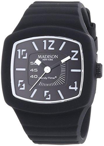 Madison Reloj Analógico para Unisex de Cuarzo con Correa en Caucho U4613-A1