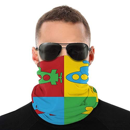 FULIYA Kopftuch, Kindergarten, einfaches und buntes Piktogramm Unterwasserfahrzeug, multifunktionales Kopftuch für Männer und Frauen
