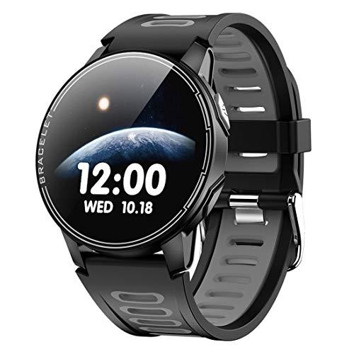 WRLR Pulsera Inteligente De Pantalla Táctil Completa Reloj Inteligente Reloj Inteligente (Color : Gray)