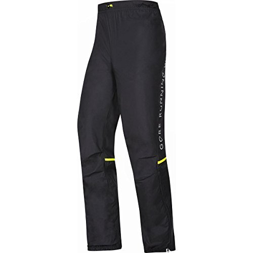 GORE RUNNING WEAR PWULTR Men's FUSION WINDSTOPPER Active Shell Pants, black, M by Gore Running Wear
