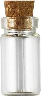 lujiaoshout Botellas 10pcs tarros de Cristal con el Corcho de Botellas de Vidrio Tapones Peque/ño Mini Favors Mini Viales Corcho de la Botella Mensaje para el Partido de Boda