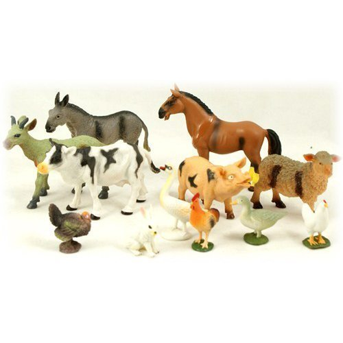 Peterkin 12PC Farm Animal Set