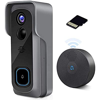WiFi Video Doorbell Camera with Chime, Two-Way ...