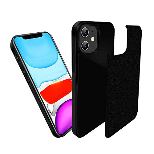 imluckies Anti Gravity Phone Case Compatible with iPhone 12 / iPhone 12 Pro, Magic Nano Stick on Smooth Surface, Glass, Tile and Whiteboards, Goat Case with Dust Proof Film
