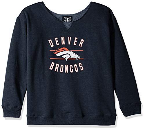 OTS NFL Denver Broncos Women's Singleback Fleece Pullover, Rush Valley, Medium