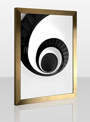 1a Bilderrahmen Monzetta 42x60 Vintage Gold Dekor 60x42 cm Antireflex Formatgruppe Breite 31 bis 45 cm