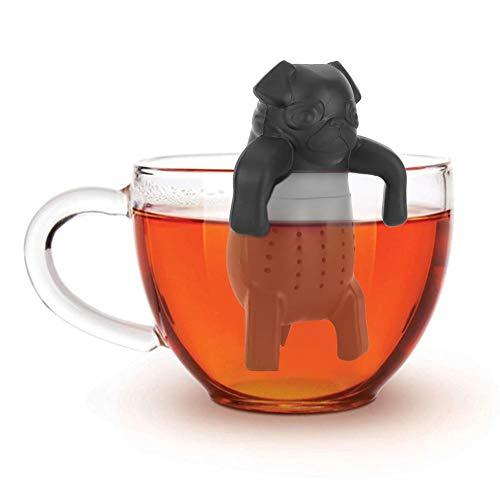 Netter Teefilter in Lebensmittelqualität Cartoon Hund Silikon Lose Teesieb Infuser Filter Gadget Tee Zubehör Wiederverwendbarer Teeballfilter für angenehmere Teezeiten