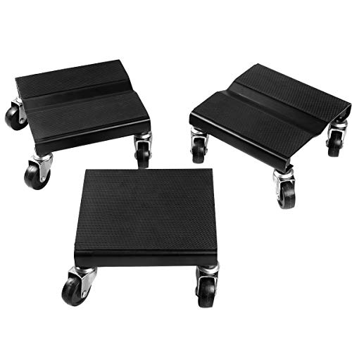 Goplus Snowmobile Dolly Set Anti-Slip Snow Mobile Moving Rollers