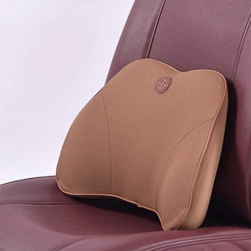 geheugenkatoen, rugsteun, rugsteun, ter verlichting van pijn in de lumbale stoel, voor auto, bureaustoel, rolstoel. Blue