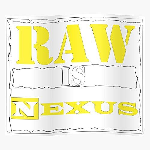 Gfashion Barrett Bryan Nexus War Wade Night Daniel Raw Era Attitude Is The Monday I Il Poster di Decorazione per Interni più Impressionante ed Elegante Disponibile di Tendenza Ora