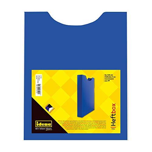 Idena 225167 - Heftbox für DIN A4 mit Gummizug, aus PP, Füllhöhe 3,5 cm, blau, 1 Stück