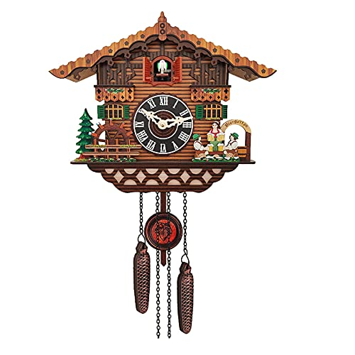 ZHJIUXING ST Reloj de Pared de diseño Moderno, Voces de Aves Naturales o Cuco, Bonito pájaro decoración del hogar, diseño Natural, para el hogar, cafetería y Hotel, A