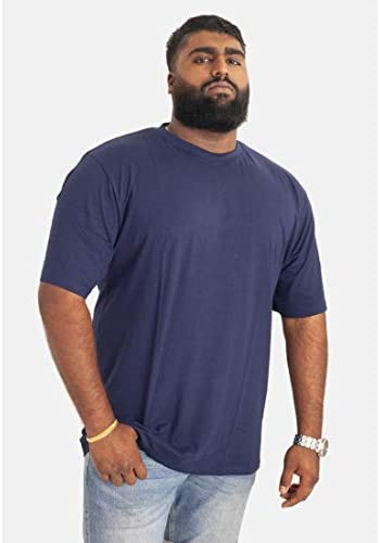 Duke D555 Homme Kansas Big Tall King Size T-shirt homme à encolure ras-du-Cou Tee-Bleu chiné