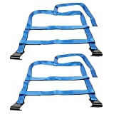 ECCPP (2X) Tow Dolly Basket Strap with Twisted Snap Hooks Blue