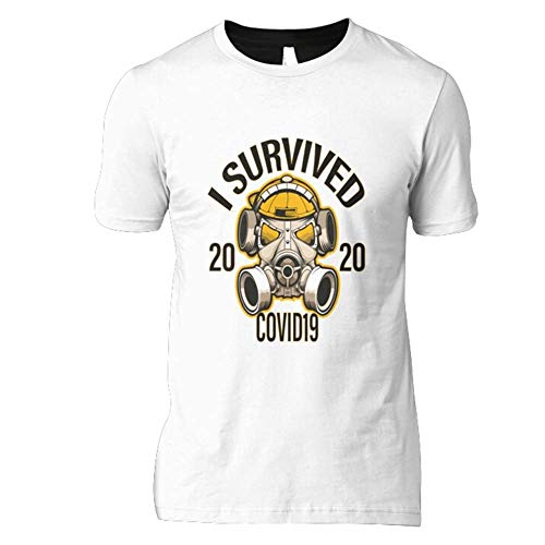 Córonavirus Memes Design I Survived Cóvid-19 2020 Slim Fit T-Shirt For Man For Women Handmade T-Shirt For Boys Birthday Gift T-Shirt