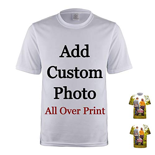 lttcbro Custom T-Shirt All Over Printed Photo Personalized Short Sleeves Unisex Tee Shirt (All Over Print Photo, XL)