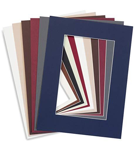 Generisch Individueller Zuschnitt von Passepartouts in unterschiedlichen Farben und Größen (Außenmaß: 30 x 40 cm, Antique White F03 Altweiß)