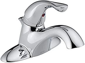 Delta 520-MPU-DST Bathroom Faucet, Single Handle with Metal Pop-Up, Chrome, Lead Free, 1.2 Gpm, Ca Compliant, Plastic, 7.1