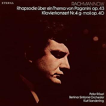 Rachmaninow: Rhapsodie über ein Thema von Paganini / Klavierkonzert No. 4