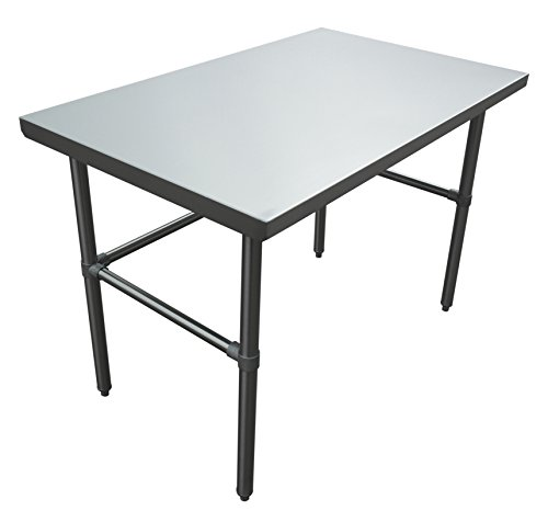 JET Premium Heavy Duty 16 Gauge 304 Stainless Steel Commercial NSF Open Base Kitchen Work Prep Table Desk Holds Up to 900 Pounds for Business Home Garage Outdoors, 48 inch Long x 30 inch Wide, Silver