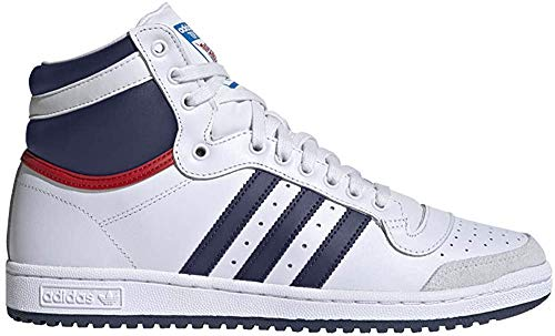 adidas Top Ten Hi Sneaker D65161 White/Navy/Red EUR 40 2/3 (UK 7,0)