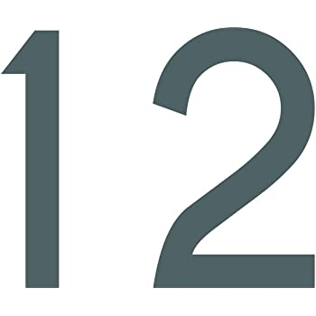Zahlenaufkleber Nummer 6 Silber 10cm 100mm Hoch Aufkleber Mit Zahlen In Vielen Farben Höhen Wetterfest Küche Haushalt