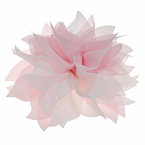 Merdia Lady Peony Party Wedding Brooch Corsage Hair Head Clip Headdress Flowers (Pink Color&acutiflorous)