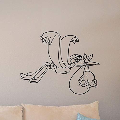 Film muur Stickers Office muur Sticker ooievaar teken Walt vliegen olifant spelen 72X57Cm