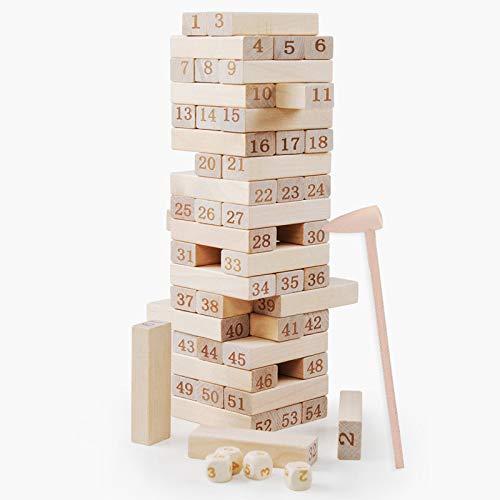 Bloques de construcción, juegos de mesa, juegos de torres apiladas, 54 bloques de jardines gigantes, juegos de jardines gigantes