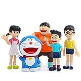 feilai Doraemon - Juego de 5 figuras de acción de PVC para jardín (5 unidades)