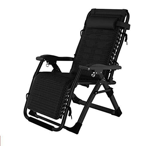 Sunlounger, Sun Lounger Recliner Chair Relaxer mit Getränkehalter |Klappbare Gartenstühle mit gepolstertem Kissen und FußstützeSessel für Wohnzimmer Lazy Boy, Max.150kg